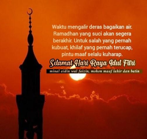 Kartu Ucapan Selamat Idul Fitri 2020 Bahasa Indonesia