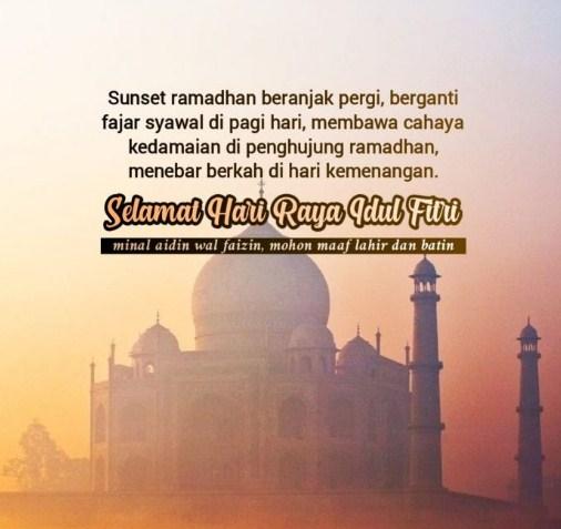 Kartu Ucapan Selamat Idul Fitri Bahasa Indonesia
